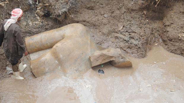 Una de las estatuas recuperadas