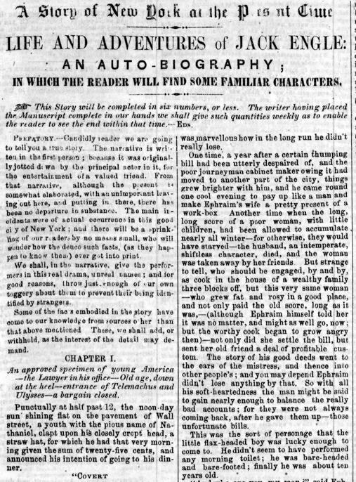 Primera página de la novela, que apareció en el «Sunday Dispatch»