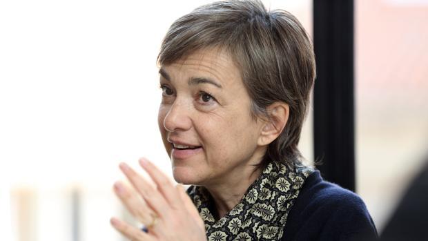 Daria Bignardi, durante la entrevista