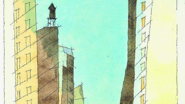 «IV B (Manhattan)», tinta y acuarela de 1937, de Lyonel Feininger