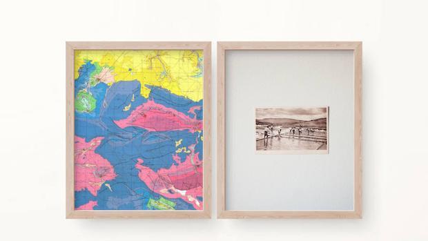 Montaje de Alberto Franco Díaz de la exposición «El mapa y el territorio» en Cámara Oscura