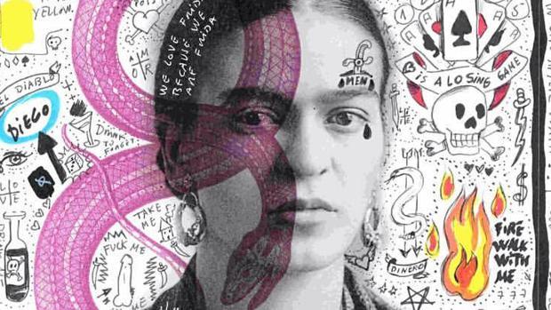 Detalle de uno de los «collages» de Roberta Marrero