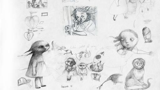Bocetos para «Snowhite»