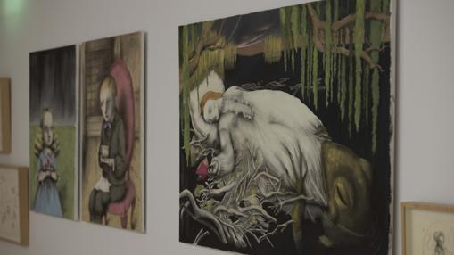 Ilustraciones de Ana Juan, en las paredes del Museo ABC