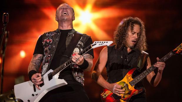 Metallica durante una de sus actuaciones en directo