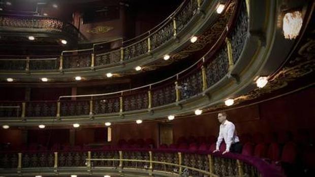 El dramaturgo Alberto Conejero en el Teatro Español