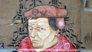 Grafiti en las calles de Roma de Mr. Klevra con la imagen de Thomas Müntzer