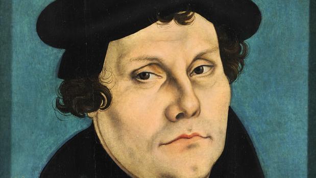 Retrato de Lutero pintado por Lucas Cranach el Viejo