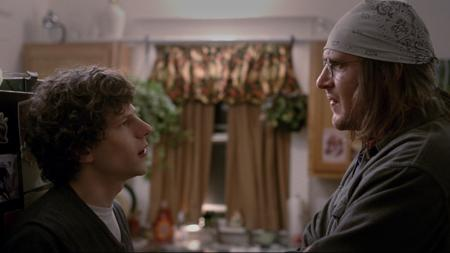 Jesse Eisenberg y Jason Segel, en una escena de «The end of the tour»