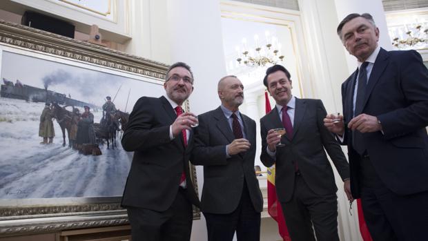 Francisco Álvarez, Pérez-Reverte, Ferrer-Dalmau y el embajador ruso