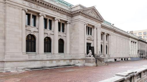 Fachada de la Hispanic Society, al norte de Manhattan