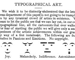 Emoticonos tipográficos en «Puck»