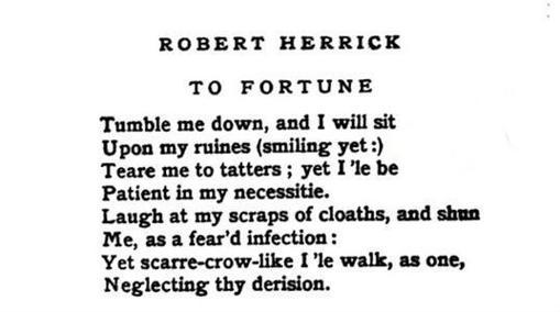 Poema de Robert Herrick