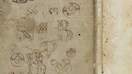 Dibujos en una biblia medieval
