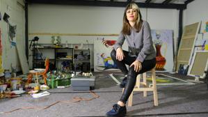 Ana Barriga en su estudio de Madrid