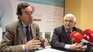 Amalio de Marichalar y Juan Manuel Ruiz Liso, durante la presentación de «Numancia 2017»