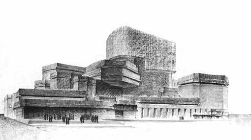 Ópera de Madrid (1962). Perspectiva a mano alzada