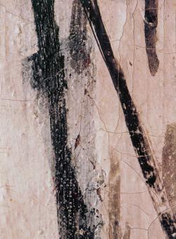 Detalle de los desperfectos del «Guernica», un cuadro muy dañado