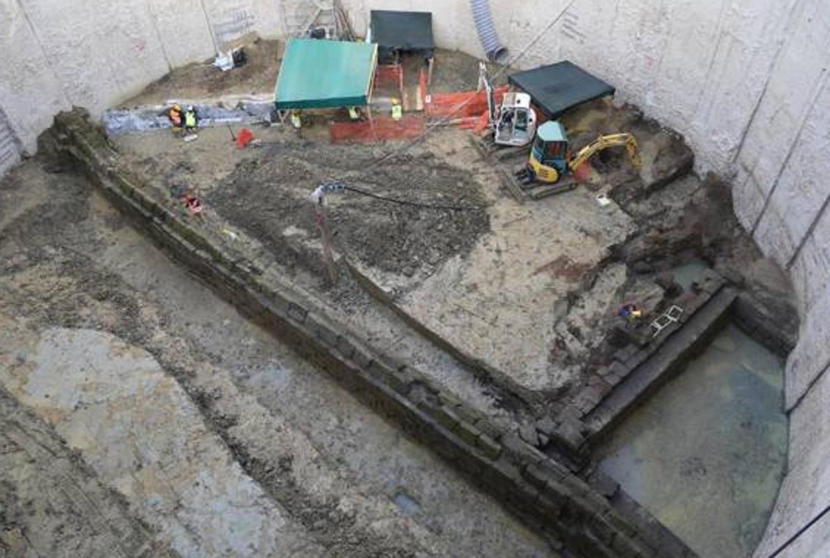 Colosal hallazgo: un acueducto de 2.300 años en las obras del metro de Roma