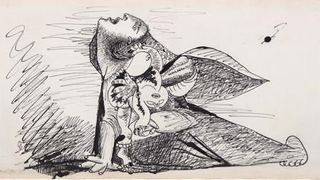 Dibujo preparatorio para el «Guernica»