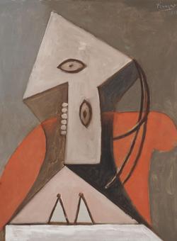 «Mujer sentada en un sillón rojo» (1929). Menil Collection, Houston