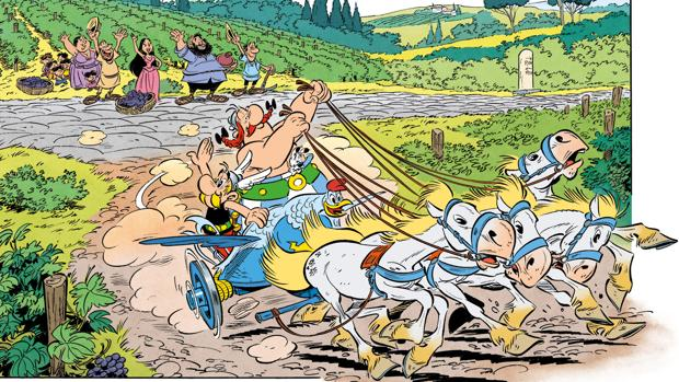 Una de las viñetas de «Astérix en Italia»