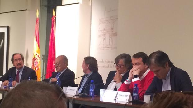 Javier Hurtado, Felipe Diaz Murillo, Curro Vázquez, Simón Casas, Rafael García Garrido y Nacho Lloret, este sábado en Las Ventas