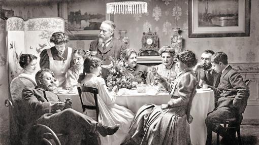 Autorretrato familiar de Antonio García (1907)