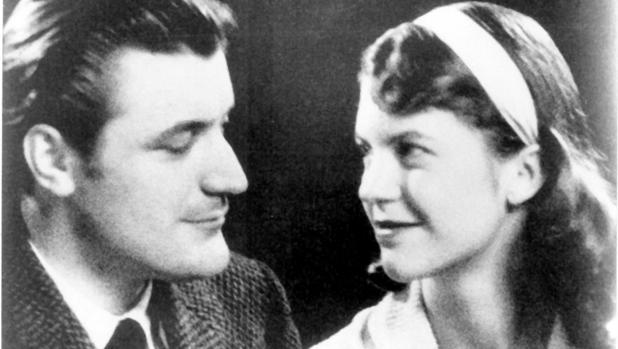 Los poetas Ted Hughes y Sylvia Plath