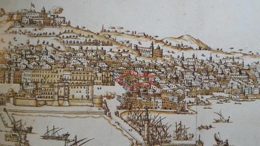 La iglesia era el primer edificio oficial que los españoles encontraban tras desembarcar en el puerto