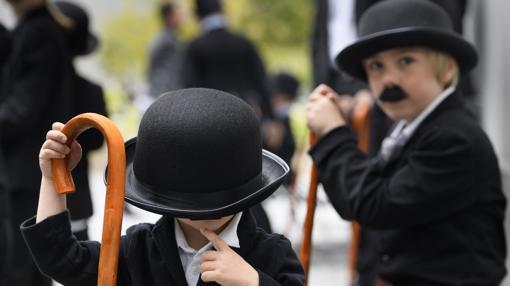 Dos de los niños que participaron en el evento