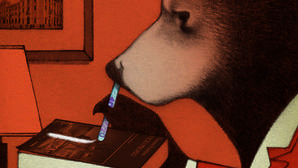 Una de las ilustraciones del libro «Drogadictos»
