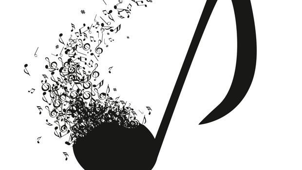 Representación artística de signos musicales