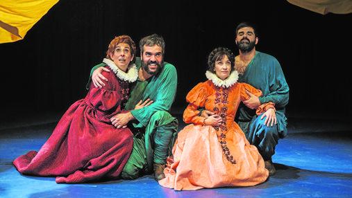 Eva Trancón, Paco Déniz, Natalia Hernández y Javier Lara, en «La Ternura»