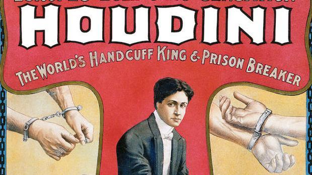 Detalle del cartel anunciador de Houdini