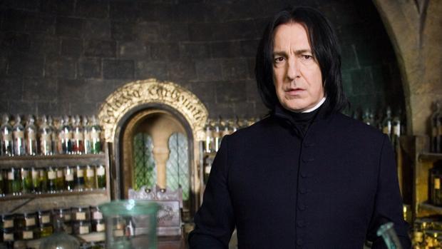 Alan Rickman interpretaba a Severus Snape en las películas de Harry Potter