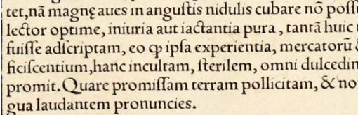 Anverso de la Tabula Terre Sanctae de la Geographia de Miguel Servet de 1535