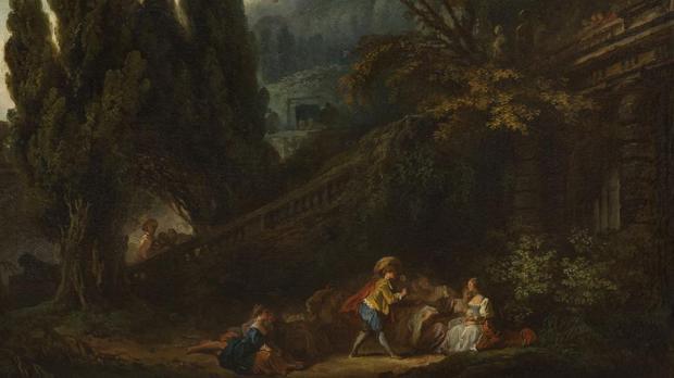 «Le jeu de la palette» (1761), de Jean-Honoré Fragonard