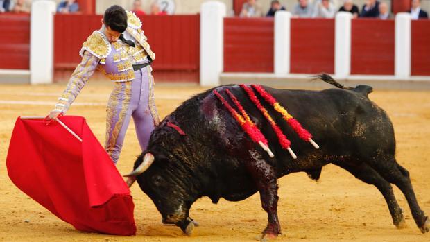 Derechazo de Alejandro Talavante al toro que desorejó