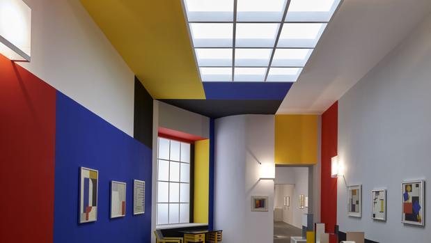 Detalle del montaje de la exposición en el Museo Reina Sofía