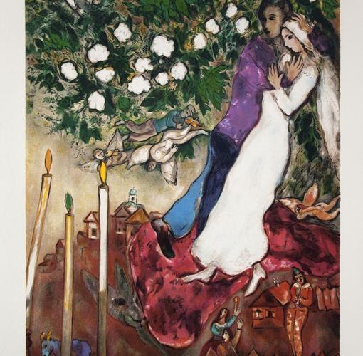 «Les trois cierges», de Marc Chagall