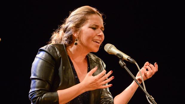 Rocío Márquez durante la actuación en la Primavera de Praga