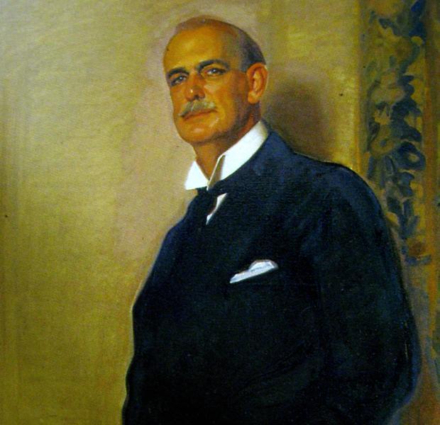 Retrato que López Mezquita realizó a Huntington