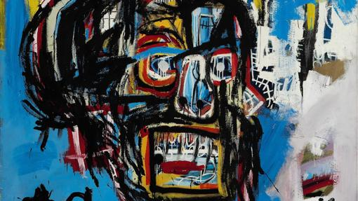 Detalle de la obra sín título de Jean-Michel Basquiat