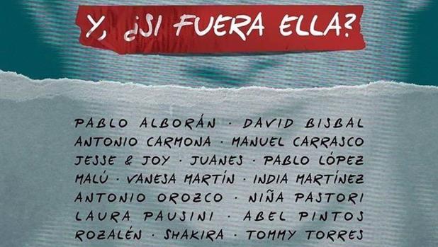 Pablo Alborán, David Bisbal, Shakira, Malú..., en la nueva versión de «Y, ¿si fuera ella?», de Alejandro Sanz