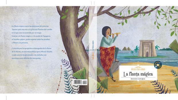 El primer libro y CD con la ópera «La flauta mágica», de Mozart