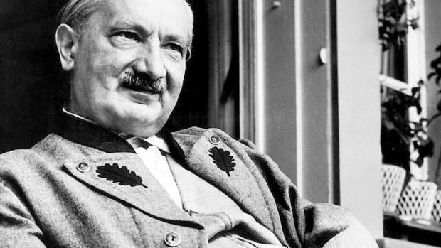 Retrato de Martin Heidegger en 1965