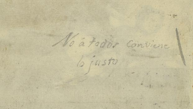 Inscripción en el reverso del dibujo «Lux ex tenebris». Álbum C, 117
