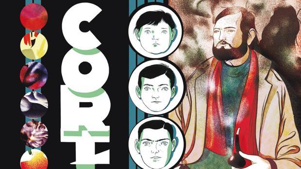 Fragmento de la portada de «Cortázar», el cómic de Jesús Marchamalo y Marc Torices