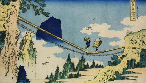 Una de las obras de Hokusai que pueden verse en el British Museum